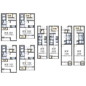 1K Apartment in Nishikubo - Musashino-shi Floorplan