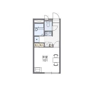 1K Apartment in Sunagawacho - Tachikawa-shi Floorplan
