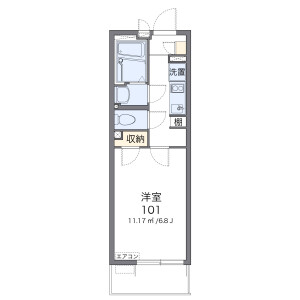 1K Mansion in Kasugadenaka - Osaka-shi Konohana-ku Floorplan