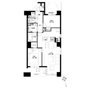 横濱市中區太田町-2LDK{building type} 房間格局