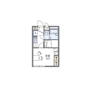 1K Apartment in Hatsunegaoka - Yokohama-shi Hodogaya-ku Floorplan
