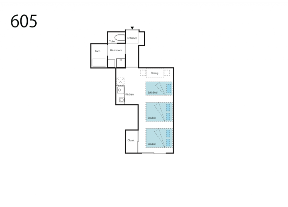 1R Apartment to Rent in Osaka-shi Naniwa-ku Floorplan