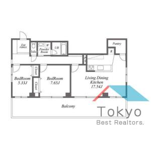 2LDK Mansion in Nogata - Nakano-ku Floorplan