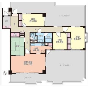4LDK {building type} in Katase kaigan - Fujisawa-shi Floorplan