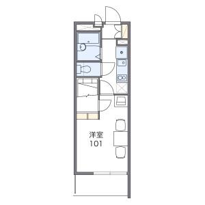 1K Mansion in Nishikatae - Fukuoka-shi Jonan-ku Floorplan