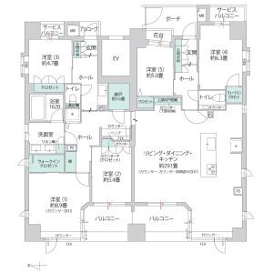 5LDK {building type} in Otedori - Osaka-shi Chuo-ku Floorplan