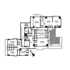 5LDK Apartment in Kusunokicho - Yokohama-shi Nishi-ku Floorplan