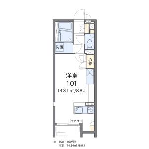 1R Apartment in Inage - Chiba-shi Inage-ku Floorplan