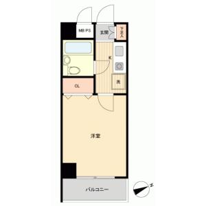1K {building type} in Ogawacho - Kodaira-shi Floorplan