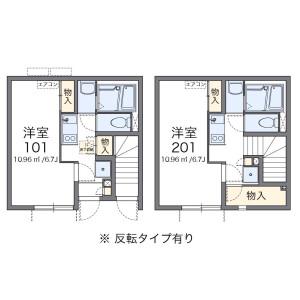 台東区 清川 1K アパート 間取り