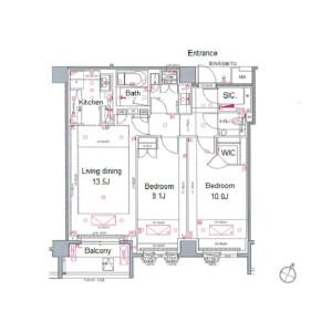 2LDK {building type} in Shirokanedai - Minato-ku Floorplan