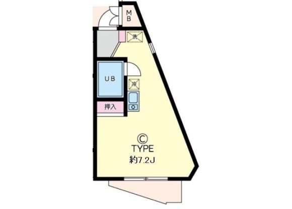 在横濱市青葉區內租賃1R 公寓大廈 的房產 房間格局