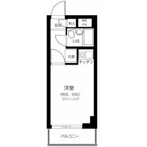 1R Mansion in Maenocho - Itabashi-ku Floorplan