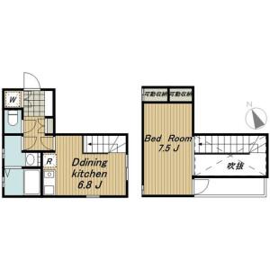港区南青山-1DK公寓大厦 楼层布局