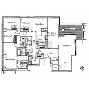 4LDK Apartment in Akasaka - Minato-ku Floorplan