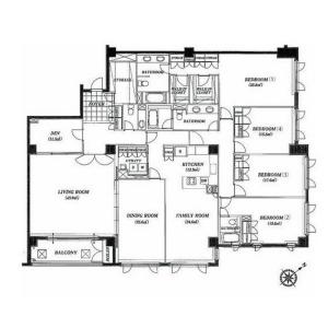 4SLDK Mansion in Jingumae - Shibuya-ku Floorplan