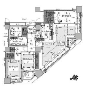 3LDK Mansion in Ichigayahommuracho - Shinjuku-ku Floorplan