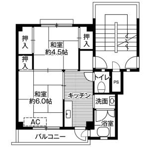 2K Mansion in Gakuharacho - Kishiwada-shi Floorplan
