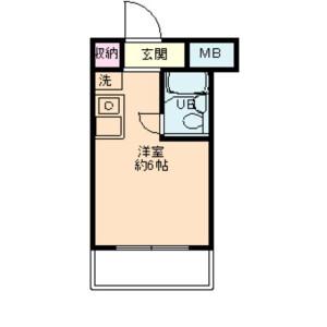 1R Apartment in Nishikameari(1.2-chome) - Katsushika-ku Floorplan
