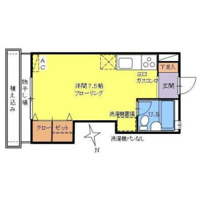 1R Apartment in Shirokanedai - Minato-ku Floorplan