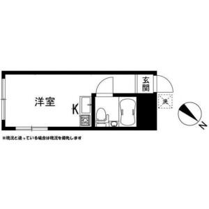 川崎市高津区 - 二子 简易式公寓 1R 楼层布局