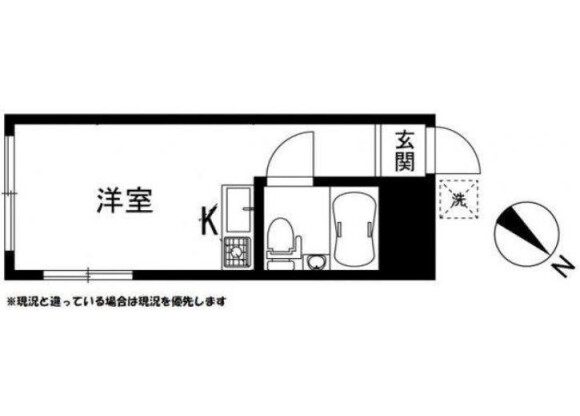1R Apartment to Rent in Kawasaki-shi Takatsu-ku Floorplan
