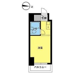 杉並区下高井戸-1R公寓大厦 楼层布局
