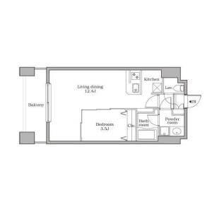 1LDK Mansion in Shibadaimon - Minato-ku Floorplan