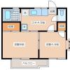 2DK Apartment to Rent in Setagaya-ku Floorplan