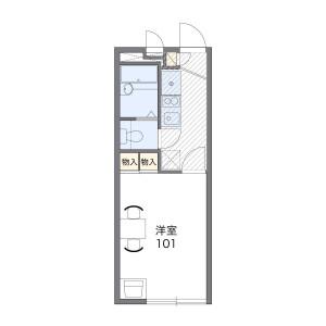 1K Apartment in Omiyacho - Nara-shi Floorplan