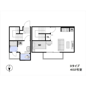 1LDK Mansion in Takada - Toshima-ku Floorplan