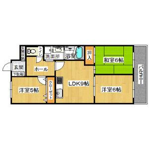 3LDK Mansion in Morokuchi - Osaka-shi Tsurumi-ku Floorplan