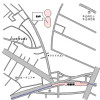 2LDK Apartment to Rent in Shinjuku-ku Access Map