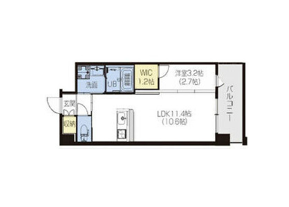 1LDK Apartment to Rent in Higashiosaka-shi Floorplan