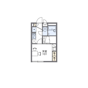 1K Apartment in Higashiyaguchi - Ota-ku Floorplan