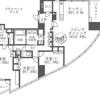 在涩谷区内租赁3LDK 公寓大厦 的 楼层布局