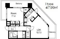 1LDK Mansion in Fukushima - Osaka-shi Fukushima-ku