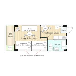 1DK Mansion in Kamijujo - Kita-ku Floorplan