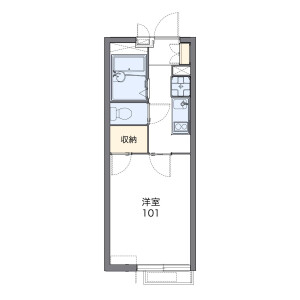 1K Apartment in Kamiosaki - Shinagawa-ku Floorplan
