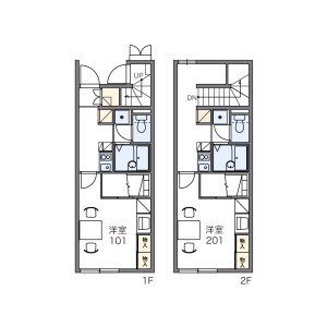 1K Apartment in Shimorenjaku - Mitaka-shi Floorplan