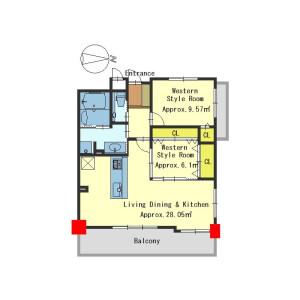 2LDK Apartment in Rokkaku aburanokojicho - Kyoto-shi Nakagyo-ku Floorplan
