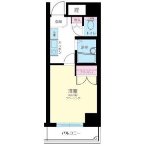 1K Mansion in Nihombashikakigaracho - Chuo-ku Floorplan