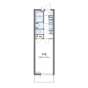 1K Mansion in Misato - Misato-shi Floorplan