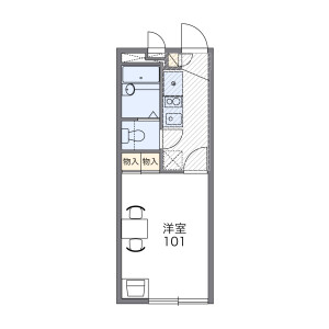 1K Mansion in Minamicho - Toda-shi Floorplan