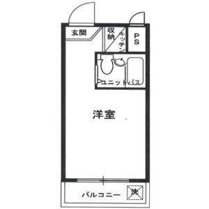 1R Mansion in Chuo - Nakano-ku Floorplan