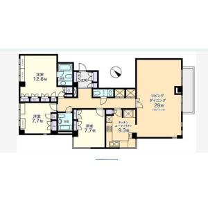 3LDK Mansion in Mita - Minato-ku Floorplan
