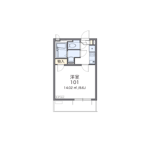 1DK Apartment in Tomigaya - Shibuya-ku Floorplan