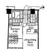 2LDK Apartment to Rent in Shinjuku-ku Floorplan
