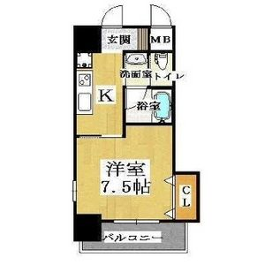 大阪市天王寺區生玉寺町-1K公寓大廈 房間格局