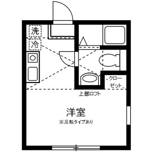 1R Apartment in Shirahata mukaicho - Yokohama-shi Kanagawa-ku Floorplan